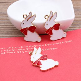Wholesale Diy Charms Bunny - Min order animals cartoon bowknots babbits bunny shape metal floating locket charms diy jewelry necklace keychain pendants accessory