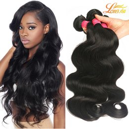 Wholesale 1b Remy Hair 12 - Brazilian Virgin Hair Body Weave Unprocessed Brazilian Huamn Hair Bundles 100% Peruvian Indian Malaysian Body Wave Remy Hair Extensions 1b