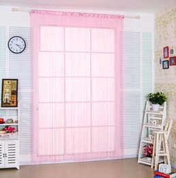 Wholesale White Fringe Curtains - Sexy Pink Spaghetti Polyester Fringe String Curtain Panels for Bedroom&Girls room decor