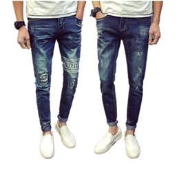 Wholesale Wholesale Capris Jeans - Wholesale- Cheap wholesale new Elastic cultivate one's morality men's leisure trousers thin foot jeans