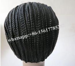 Wholesale Sew Machine Cheap - braided Cornrows Cap For Making Easier Sew Ins Cheap Adjustable Cap Glueless Hair Net Liner Crochet Caps 1 pcs