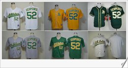 mlb jersey oakland athletics 52 yoenis cespedes embroidery cool base cheap mens baseball stitched pr