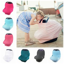Wholesale Grocery Shopping Trolley - Baby Stretchy Car Seat Covers Carseat Canopy Privacy Nursing Cover Shopping Cart Grocery Trolley Cover High Chair Cover 11 Colors OOA2633