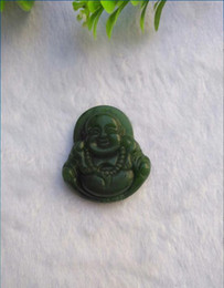 Wholesale Carved Face Necklaces - Natural jade Buddha Maitreya genuine smiling Buddha pure hand carved and delicate pendant pendant I wish you smile
