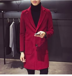 Wholesale Growing Fashion - Coat male Men's windbreaker paragraph dust coat grows in winter new cloth coathan edition cultivate one's morality