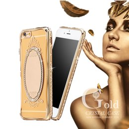Wholesale Huawei Phone Case Rhinestones - Mirror Case Electroplating Chrome Ultrathin Soft TPU Phone Case Cover For iPhone Samsung A9 OPPO R7S HUAWEI P9 With Retail Package