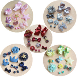 Wholesale Colorful Hair Claws - 10 PCS Baby Kids Maternity Lovely BB Hair Claws Barrettes Colorful design Clip Hairpins Hair Accessories Sets