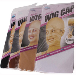 Wholesale wig caps wholesale - 30 pcs Lot NEW Deluxe Dream Beige Wig Cap Stretchable Elastic Hair Net Snood Wig Cap Hairnet Hair Mesh Y demand