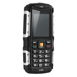 "Wholesale Dual Sim M1 - Original AGM M1 IP68 Waterproof Shockproof Phone FM Loud Speaker 2570mAh Long Standby Cellphone 3G 2.0"" 128MB+64MB 2MP with LED Mobile Phone"