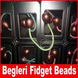 Wholesale Fluorescent Beads - Luminous Begleri Fidget Beads Thumb Chucks Alloy EDC Glow in Dark Fluorescent light ADHD Anti Stress Novelty Toys With Box