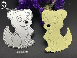 Wholesale Pet Papers - METAL CUTTING DIES paper craft Scrapbook card album embossing stencils animal dog doggy love pet puppy art cutter home decor