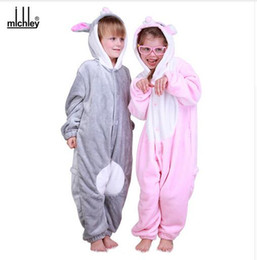 Wholesale Wholesale Kid S Pajamas - MICHLEY Kids Cosplay Clothes New Arrived Children Pajamas Baby Girl Boys Spring Winter Jumpsuits Baby Warm Cartoon Clothing AP03