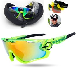 Wholesale Glasses For Running - Cycling Goggles Fashion 3 Lens Brand Polarized Sung Glasses For Men Women Sport Cycling Bicycle Running Mens Sun Glasses 12 Color
