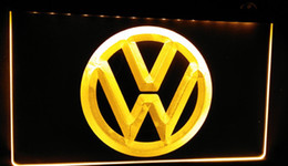 Wholesale Neon Light Sign Car - LS330-y Volkswagen-LED VW Car Logo Services Neon Light Sign Decor Free Shipping Dropshipping Wholesale 6 colors to choose