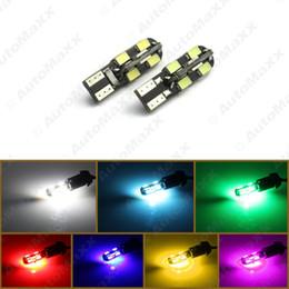 2019 cores do carro verde FEELDO 50PCS DC12V T10 12LED 3528SMD CANBUS sem erro Side Car LED Light Lamp Lâmpadas 7-Colors # 1279 cores do carro verde barato