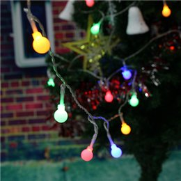 Wholesale Christmas Table Cloth Purple - LED Party Lights LED White Plastic Bulb Lights Shinning Lights String Romantic Wedding Party Home Decor Decoration LED with AA Battery