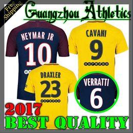 Wholesale Dry Suits - new 2017 2018 VERRATTI Soccer suit CAVANI NEYMARJR MARQUINHOS LUCAS KUZRZWA DI MARIA MATUIDI T SIVA DRAXLER 17 18 Soccer Jersey