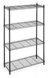 Wholesale Black Kitchens - Rack 4-Tier Organizer Kitchen Shelving Steel Wire Shelves