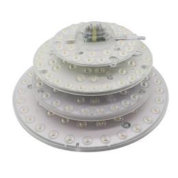 Círculos do ímã on-line-12 W 18 W 24 W 36 W LED Módulo de Luz de Teto SMD2835 110 V 220 V Painel de LED Círculo de Luz Da Lâmpada Anel Redondo Painel de LED Board com ímã