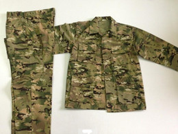 Wholesale Bdu Army Uniform - BDU Universal Camouflage Suit Sets Army Tactical Camo Uniform with Jacket and Pants Huiting Jacket BDU Version Uniforms