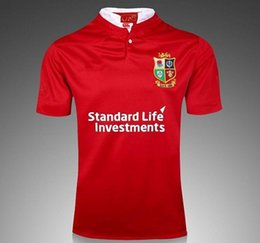 Wholesale Lions Shirt Xl - 2017 Thai quality Ireland British Irish Lions euro Rugby Jersey home red away ball white&black Men rugby shirts size S - 3XL