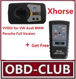 2019 bmw key sell Original Xhorse VVDI2 Comando Prog Chave para VW / Audi / BMW / Porsche Versão Completa Mais Remoto Testador para Infravermelho de Radiofrequência