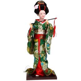 2019 bonecas japonesas humanas Boneca de pano boneca de quimono japonês artesanal Estatueta gueixa humana boneca de seda bonecas japonesas humanas barato