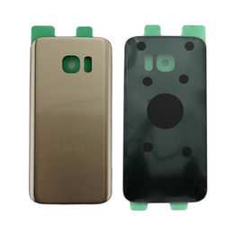 Wholesale Rear Case - Original New Glass Rear Back Battery Door With Sticker for Samsung Galaxy S7 G930 G930F Back Cover Housing Case Replacement Parts with logo