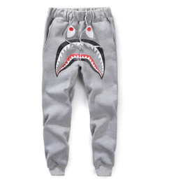 2019 pantaloni di yoga pieno di lunghezza del mens Pantaloni hip-hop kanye Pantaloni da tuta da uomo CargoLoose Pantaloni da corsa casuali Pantaloni Harem Bone Harem shark head slim fashion shark Pants
