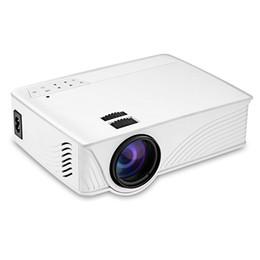 Wholesale Home Cinema Hdmi - Wholesale- Original HD Protable GP-12 Mini Home Cinema Theater HD GP12 3D LED Lamp Projector 2000 Lumens