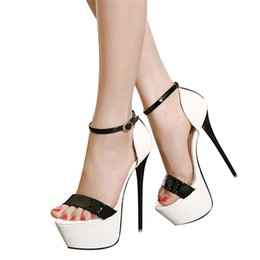 Wholesale Queen Show - Fashion Women Sandals Princess Temperament Ultra High Heel Shoes Auto Show Models Queen Hing Days High Single Shoes