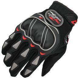 Мотоциклетные байкерские перчатки онлайн-Профессиональный классический Por-байкер гоночный мотоцикл перчатки количество черный синий красный полный палец мотоцикл Motos защитные перчатки для мужчин женщин
