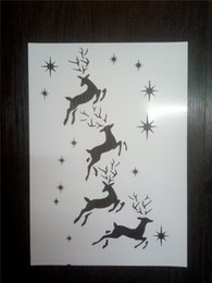 Wholesale More Lasers - Wholesale laser cut stencils printing designs Masking template For Scrapbooking album drawing and more-the deers for Christmas 150