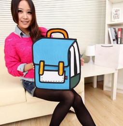 Wholesale Bags Style 2d - Women backpack 3D anime bag Cartoon Men Backpack School Bag 3D Style Canvas 2D Travel Drawing Book mochila for teenage girls