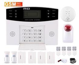 Wholesale Gsm Wireless Smart Alarm - 433 LCD WIRELESS GSM AUTODIAL SMS HOME VILLA OFFICE STORE SECURITY BURGLAR INTRUDER ALARM SMART VOICE HOUSEHOLD BURGLAR ALARM ANTI-PET TYPE