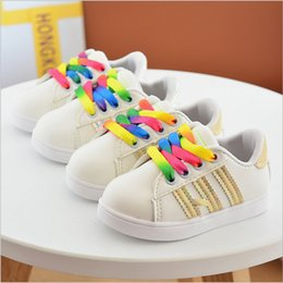 Wholesale Colorful Platforms - China wholesale cheap shoes kids girl colorful lace up striped 2017 new spring fashion casual shoes children rubber flat platform