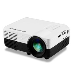 Wholesale Ypbpr Usb - Wholesale- Excelvan LED2018 Home Mini Projector 640*480P Support 1080p 1200Lumens With Input AV HDMI USB SD YPbPr 3.5mm Audio in DVB-T2