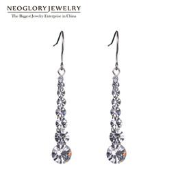 Wholesale Crystal Dangle Earrings Wholesale - Charm Auden Rhinestone Beads Long Drop Earrings For Women Fashion Neoglory Jewelry