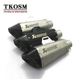 Wholesale Motorcycle Laser - TKOSM Motorcycle Scooter Laser Akrapovic Exhaust Modified Exhaust Muffler pipe For 2006-2010 for Suzuki GSXR GSX-R 600 750 K6 K7 K8 K9