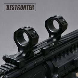 Wholesale Picatinny Rail Scope Mount Rings - Extend Dual Ring 1 Inch 30mm with Cantilever Heavy Duty Scope Mount Level Instrument For 20mm Picatinny Rail with Bubble Level