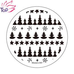 Wholesale Templates For Nail Art - Wholesale- Pentacle Pine tree Image Stamp Diy Stamping Nail Art Plates Template Stainless Steel Stencil For Nails JH235