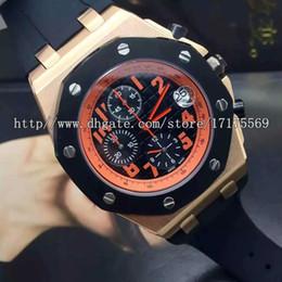 Wholesale Import Case - 2017 Luxury fashion classic precision imported multifunctional calendar quartz movement rose gold case rubber watchband Mens Watch