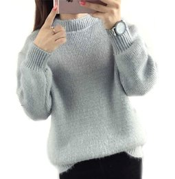 Wholesale Thick Poncho Sweater - Wholesale- women winter sweater jumper pullover knitting gray beige purple green oversized pull femme women's sweaters poncho coats