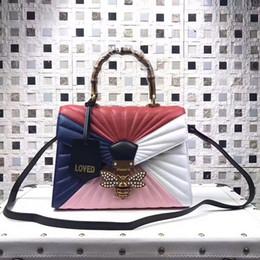 Wholesale Top Designer Brands Handbags - Top quality 2017 Brand famous classical designer women shoulder g bags hot sale genuine leather tote handbags day clutch purse