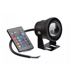 Wholesale Rgb Home Spot - IP65 Watrproof Dimmer 10W DC 12V RGB LED Spot Light Garden Square Yard Flood Lamp With IR Remote