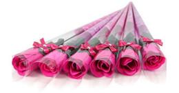 Wholesale Single Rose Bouquet - NEW Valentine 's Day Single Rose Bouquet Simulation Flower Teacher' s Day Decoration Gift Creative Festival