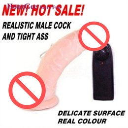Wholesale Dildo Vibrator Realistic - BAILE Multi-speed Realistic Dildo Vibrator Sex Toys Sex Machine Vibrating Dong with Strong Suction Cup for Hands-free