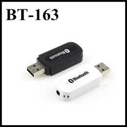 Wholesale Iphone Usb Dongle - BT-163 usb bluetooth Stereo Music receiver Adapter Wireless Car Audio 3.5mm Bluetooth Receiver Dongle for iphone speaker mp3
