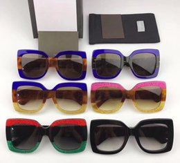 Wholesale Box Top Brands - Top Quality AAAAA+ 0083S Popular Luxury Sunglasses Women Brand Designer 0083 Square Summer Style Full Frame UV Protection with Original box