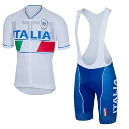 Wholesale Quick Bicycle - 2016 pro team Italia Cycling Jerseys Ropa Ciclismo Breathable Mens Bicycle summer Cycling Clothing Quick-Dry GEL Pad MTB Bike bib shorts